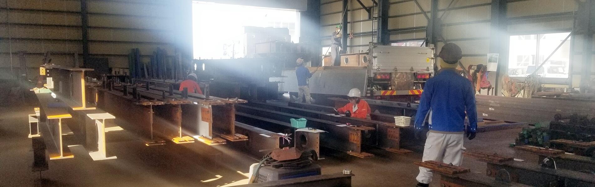 新潟県上越市にある上野工業の作業の様子